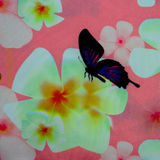 Hawaiian jungle print made of textured cotton Stock Photography