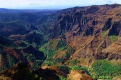Hawaiian landscape. A famous Hawaiian landscape view royalty free stock photos