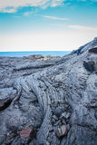 Hawaiian lava flow. An old Hawaiian lava flow on the Big Island Royalty Free Stock Photography