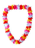 Hawaiian lei. Necklace isolated on white background Stock Photos