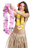 Hawaiian Lei Woman Stock Images