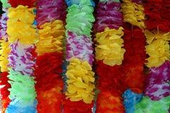 Hawaiian Leis. A background of Hawaiian Leis and flowers Stock Photography