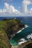 Hawaiian Lighthouse - 2. A lighthouse sits on the tip of a volcanic cliff on the Hawaiian Island of Kauai Royalty Free Stock Photography