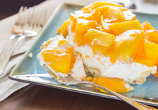 Hawaiian Mango Jello Cheesecake Stock Photography