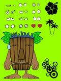Hawaiian mask cartoon expression Royalty Free Stock Images