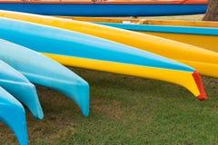 Hawaiian outrigger canoes Royalty Free Stock Photos