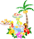Hawaiian pancake cafe-2 Stock Image