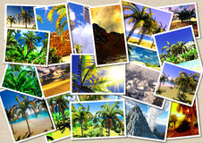 Hawaiian paradise collage Royalty Free Stock Photos