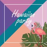 Hawaiian party banner Royalty Free Stock Image