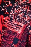 Hawaiian Pattern. Close up image of hawaiian fabric - Red Stock Photos