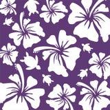 Hawaiian Pattern - deep blue Royalty Free Stock Photo