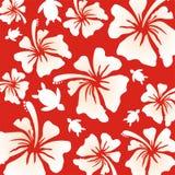 Hawaiian Pattern - red Royalty Free Stock Photo