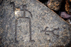 Hawaiian Petroglyphs Stock Photo