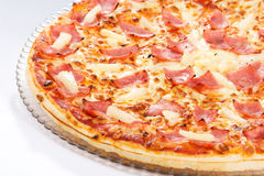 Hawaiian Pineapple Pizza Stock Image