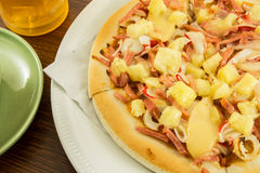 Hawaiian pizza Stock Images