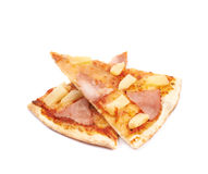 Hawaiian pizza composition isolated Royalty Free Stock Images