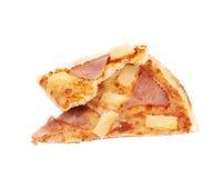 Hawaiian pizza composition isolated Stock Photo