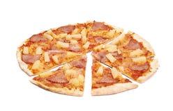 Hawaiian pizza composition isolated Stock Photography