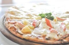 Hawaiian pizza dish Royalty Free Stock Photo