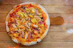 Hawaiian pizza homemade Royalty Free Stock Photography