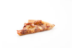 Hawaiian pizza. Isolated on white background Royalty Free Stock Images