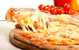 Hawaiian pizza Stock Photography