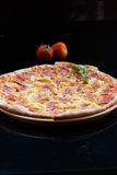 Hawaiian Pizza , pineapple , ham and cheese stock photography