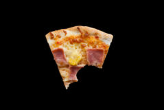Hawaiian Pizza , pineapple , ham and cheese Royalty Free Stock Image