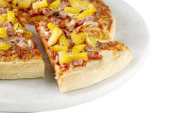 Hawaiian pizza slices Royalty Free Stock Photography