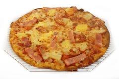 Hawaiian pizza topped Royalty Free Stock Photos