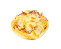 Hawaiian pizza on white background Stock Photos