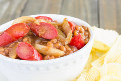 Hawaiian Pork and Beans Stock Images