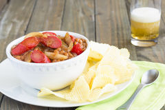 Hawaiian Pork and Beans Stock Photography