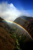 Hawaiian Rainbow. In a ravine between to mountains stock photography