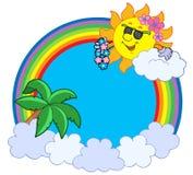 Hawaiian rainbow circle Royalty Free Stock Photography