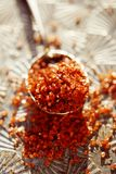 Hawaiian Red Gold Salt. This bright red sea salt whose proper name is Alaea Rouge is the salt used by Hawaiian people in their everyday life stock images