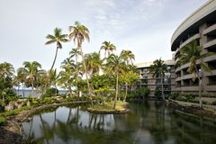 Hawaiian Resort Hotel Stock Images