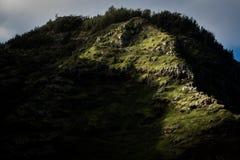 Hawaiian ridges on Oahu. The ridges on Oahu island in Hawaii Royalty Free Stock Image