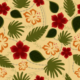 Hawaiian seamless pattern retro. Vector hawaiian seamless pattern retro Stock Photography