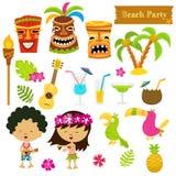 Hawaiian Set Stock Photography