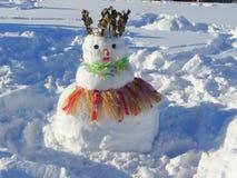 Hawaiian snowman Stock Photo