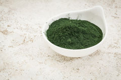 Hawaiian spirulina powder Royalty Free Stock Photo