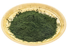 Hawaiian spirulina powder Royalty Free Stock Photos