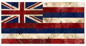Hawaiian Hawaii Flag Grunge Vintage Metal Rustic Old Antique royalty free stock images