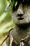 Hawaiian Statue. This image was shot in Hawaii and shows a Hawaiian stone carving Stock Photography