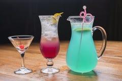 Hawaiian style and blueberry fruit ice soda Stock Photo