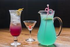 Hawaiian style and blueberry fruit ice soda Royalty Free Stock Photos