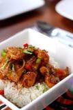 Hawaiian Style Chicken Rice royalty free stock image
