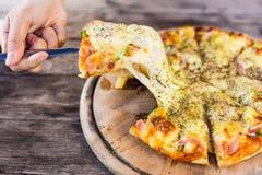 Hawaiian style pizza Royalty Free Stock Photos