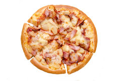Hawaiian style pizza, italian food Royalty Free Stock Photos